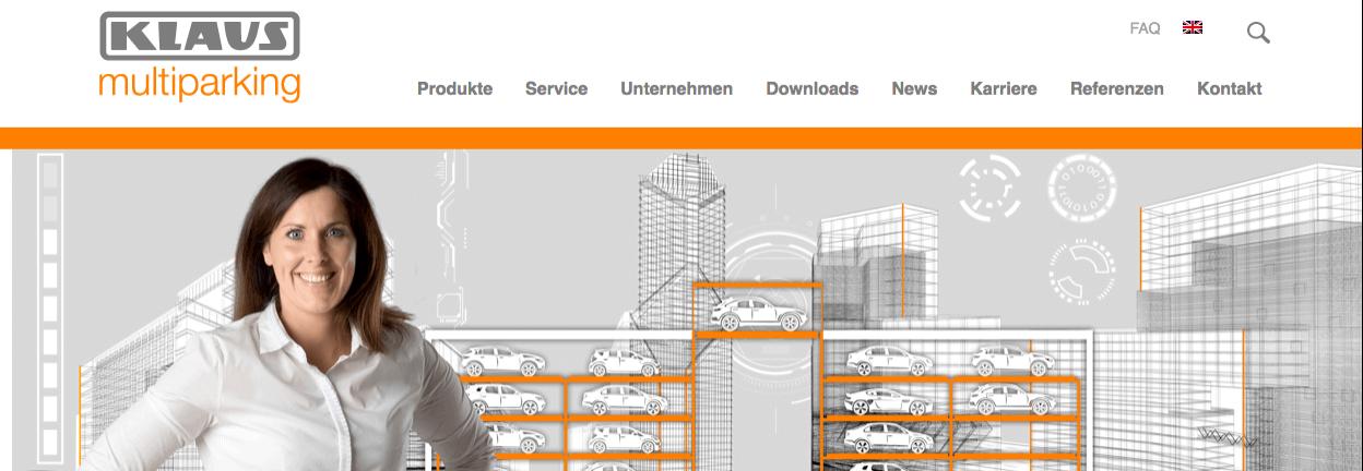 KLAUS Multiparking – nowa strona internetowa