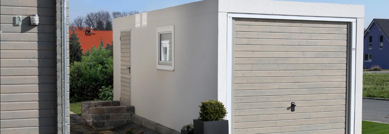 Gotowe garaże firmy Laumer i platforma MultiBaseU10