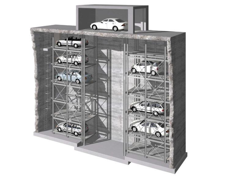 W pełni automatyczny system parkinowy MasterVario R2L Klaus Multiparking baner